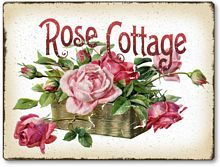 Item 1031 Basket of Pink Roses Victorian Style Plaque