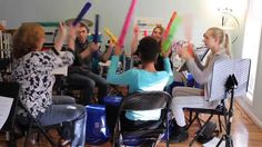 Bucket Drumming with Boomwhackers