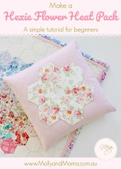 Make a Heat Pack with Pretty Hexie Flower - Molly and Mama