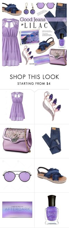 """""""Jeans and Lilac ~ GAMISS #36"""" by alexandrazeres ❤ liked on Polyvore featuring Cheap Monday, Urban Decay, Deborah Lippmann and modern"""