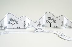 Made by Joel Paper City Road Trip Large Size Printable with roads and hills.