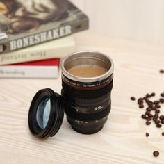 Camera Lens Coffee Mug Tea Travel Mug Lens Shape Cup Stainless Steel