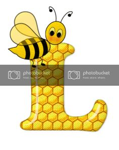 Alfabeto de abeja sobre letras de panal. - Oh my Alfabetos! Cute Bee, Blogger Templates, Tigger, Bee Decorations, Disney Characters, Fictional Characters, Alphabet, Bee Art, 1 Year