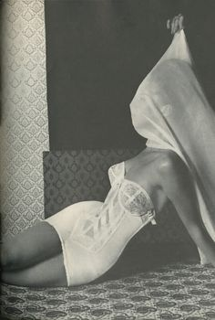 Editorial photographed by Horst for Vogue, September 15, 1963. Definitely 1950s in feeling. Horst P Horst, Lingerie Editorial, Vogue Editorial, Lingerie Shoot, Editorial Fashion, Lingerie Photography, Vintage Fashion Photography, Retro Lingerie, Lacey Lingerie