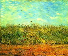 Vincent Van Gogh. Wheat Field with a Lark (1887).