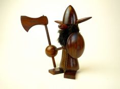 Wooden Viking Figurine  Danish Mid Century Modern by CrolAndCo on Etsy