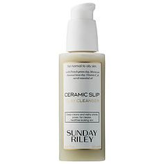 Shop Sunday Riley's Ceramic Slip Clay Cleanser at Sephora. It balances the skin, tightens the look of pores, and removes impurities without stripping skin.