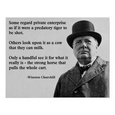 Churchill Free Enterprise Quote