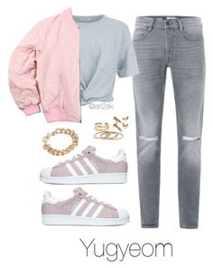 Fly - Yugyeom  by ari2sk on Polyvore featuring polyvore, fashion, style, T By Alexander Wang, adidas, NLY Accessories and clothing