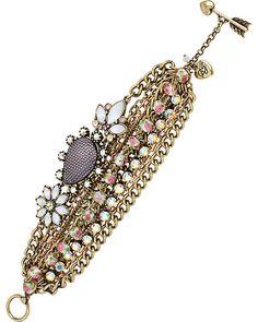 GIRLIE GRUNGE MULTI CHAIN BRACELET PURPLE MULTI accessories jewelry bracelets fashion