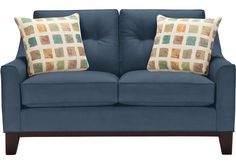 Cindy Crawford Home Montclair Indigo Loveseat.679.99. 60W x 38D x 38H. Find affordable Loveseats for your home that will complement the rest of your furniture. #iSofa #roomstogo