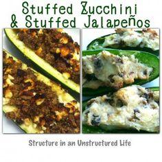 Stuffed Zucchini & Stuffed Jalapenos (Plus a Meal Plan!)