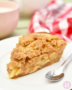 Apple Crumble Pie, Apple Pie, Homemade Pastries, Food Inspiration, Sweet Treats, Brunch, Cooking, Breakfast, Desserts