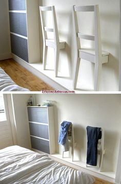 Best of recycling - 75 upcycling ideas that will inspire you - Page 4 of 4 - Decorative milk- Best of Wiederverwertung – 75 Upcycling Ideen die Dich begeistern werden – Seite 4 von 4 – Dekomilch Honestly, who doesn& want … - Diy Home Decor, Room Decor, Wall Decor, Diy Furniture, Furniture Design, Bedroom Furniture, Diy Casa, Ikea Hackers, Bedroom Chair
