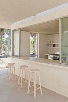 A while back, while browsing LA-based photographer Laure Joliet's site, we spotted photos of an intriguing modernist concrete house taking shape in Todos S