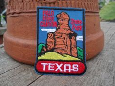 Palo Duro Canyon Texas State Park Patch Souvenir by Fizzybiskit, $7.95