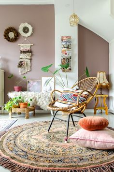 This is how you convince your man of pink in the interior Styled by Sabine - Zo overtuig jij jouw man van roze in het interieur Home Design, Interior Design, Interior Inspiration, Room Inspiration, Living Room Decor, Bedroom Decor, Natural Bedroom, Traditional Dining Rooms, Pink Walls