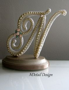 Looks like I'm taking a trip to the craft store!   Wedding Cake Topper & Display  Custom Monogrammed by NDetailDesign, $120.99