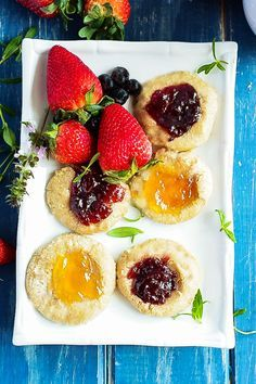 Michelle's thumbprint cookies remind me of the ones my Nani Dorothy used to make. via @healthiersteps