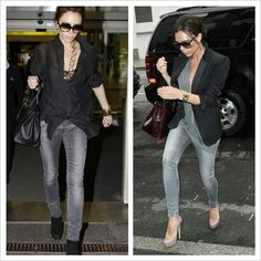 same faded grey jeans worn diff ways