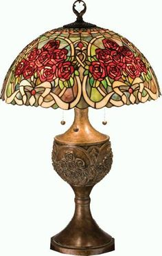 Rose Bouquet Table Lamp - If you look closely, it looks like two people dancing (or twirling) at the top!