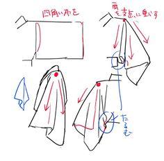 逆名@審神者 @funa6634 時々着物の描き方TIPSとか流していますが参考になりましたって仰って頂けるとすごく嬉しいです…!! あくまで自分が資料見て描きながら思った事で、それぞれの描き方あると思いますが参考になれば書いた甲斐あります… 袖メモまとめて再掲。