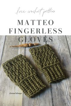 The Matteo Fingerless Gloves bring texture and warmth in this free crochet pattern. Keep your hands and wrists warm, while leaving your fingers free. Crochet Fingerless Gloves Free Pattern, Fingerless Gloves Knitted, Crochet Blanket Patterns, Crochet Stitches, Hat Patterns, Crochet Granny, Stitch Patterns, Knitting Patterns, Crochet Hand Warmers