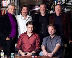 Castle and the famous authors he plays poker with...really like it when they get together and banter!