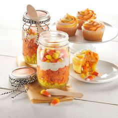 Candy Corn Surprise Cupcakes