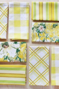 DIY thrifty Cloth Napkins and Placemats - upcycle old bed sheets, tablecloths etc!