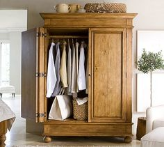 Belvedere Armoire #potterybarn  i CAN'T BELIEVE THIS IS ONLY $299.  WHAT A DEAL...  WISH I NEEDED IT.