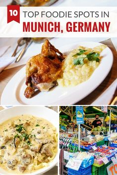 10 top destinations for foodies in Munich, Germany including restaurants, cafes, markets and shops