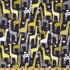 Michael Miller Giraffe Love Gray from @fabricdotcom  From Michael Miller Fabrics, this cotton print fabric is perfect for quilts, home décor accents, craft projects and apparel.  Colors include white, citron and grey.