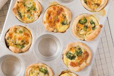 Minis pâtés au brocoli et au fromage #recettesduqc #bouchees #collation