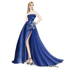 Elie Saab Fall 2016 Couture; a fashion illustration by Draw A Story