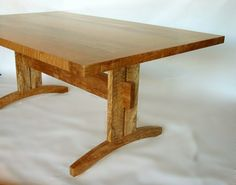 Handmade Trestle Dining Table by Madera Fine Decorative Furnishings, Llc | CustomMade.com