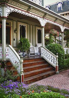 Victorian porch, Cape May, NJ, 2011 by Pat Corrigan, via Flickr