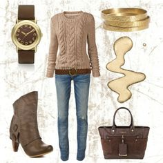 Lovely casual outfit for winter.