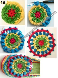 Crotchet Stitches, Crochet Granny, Free Crochet, Knit Crochet, Crochet Slipper Pattern, Crochet Mandala Pattern, Crochet Patterns, Crochet Boots, Crochet Slippers