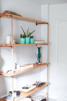 DIY // Copper & Wood Shelf — Treasures & Travels
