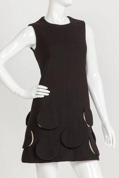 Pierre Cardin Space Age 'Rocket Dress' w/Circle Cutout Flaps at Hem ca.1967 3