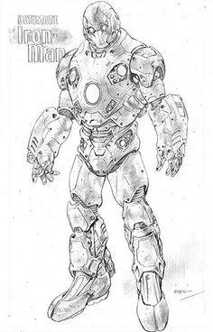 Ultimate Iron Man by Andy Kubert