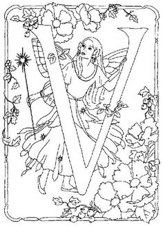 coloring page Alphabet fairies on Kids-n-Fun. Coloring pages of Alphabet fairies on Kids-n-Fun. More than coloring pages. At Kids-n-Fun you will always find the nicest coloring pages first! Fairy Coloring Pages, Cool Coloring Pages, Disney Coloring Pages, Coloring For Kids, Adult Coloring Pages, Coloring Books, Coloring Letters, Alphabet Coloring Pages, Printable Coloring Pages