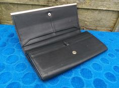 Fiorelli Black Leather Purse Wallet Money Cash Card Zipper Coin Pocket Gusseted in Clothes, Shoes & Accessories, Women's Accessories, Purses & Wallets   eBay