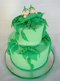 Two peas in a pod cake | Flickr - Photo Sharing!