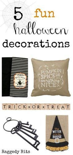 With Halloween not too far away, I popped together a collection of 5 Fun Halloween Decorations to add some spooky fun to your decorating…