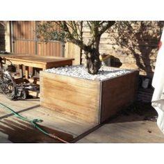 Bloembak van steenschotten - Bloembakken - Tuinmeubels van steigerhout