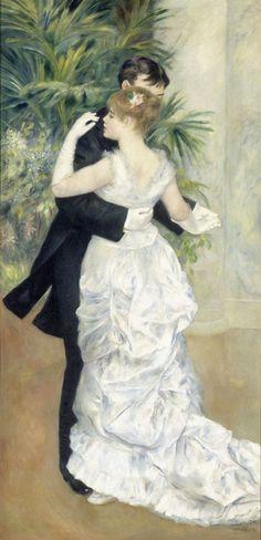 "Pierre-Auguste Renoir (1841-1919) - ""Danse à la ville"" - Huile sur toile - http://www.musee-orsay.fr/es/colecciones/catalogo-de-obras/resultat-collection.html?no_cache=1&zoom=1&tx_damzoom_pi1[zoom]=0&tx_damzoom_pi1[xmlId]=001160&tx_damzoom_pi1[back]=es%2Fcolecciones%2Fcatalogo-de-obras%2Fresultat-collection.html%3Fno_cache%3D1%26zsz%3D9"