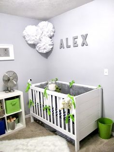 Blue and Green Nursery #nursery #babyboy