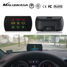 OBD2 Car HUD Head-Up Display Smart Digital Meter HD Digital Display Speedometer Fuel Consumption Temperature RPM Review Lawn Mowing Business, Head Up Display, Heads Up, Car Insurance, Header, Digital